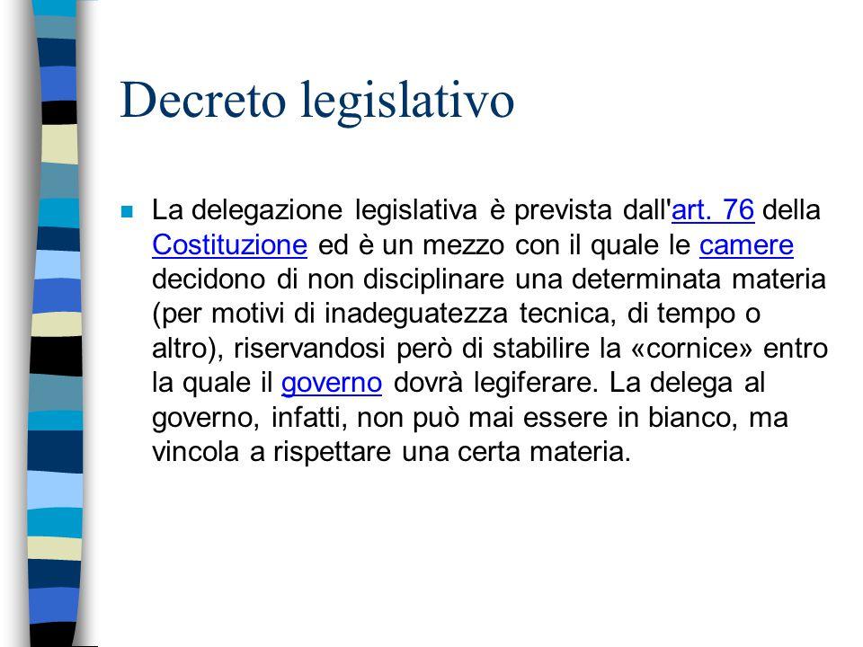 Decreto legislativo