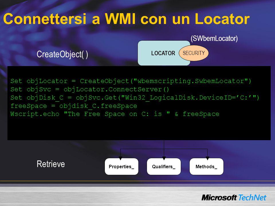 Connettersi a WMI con un Locator