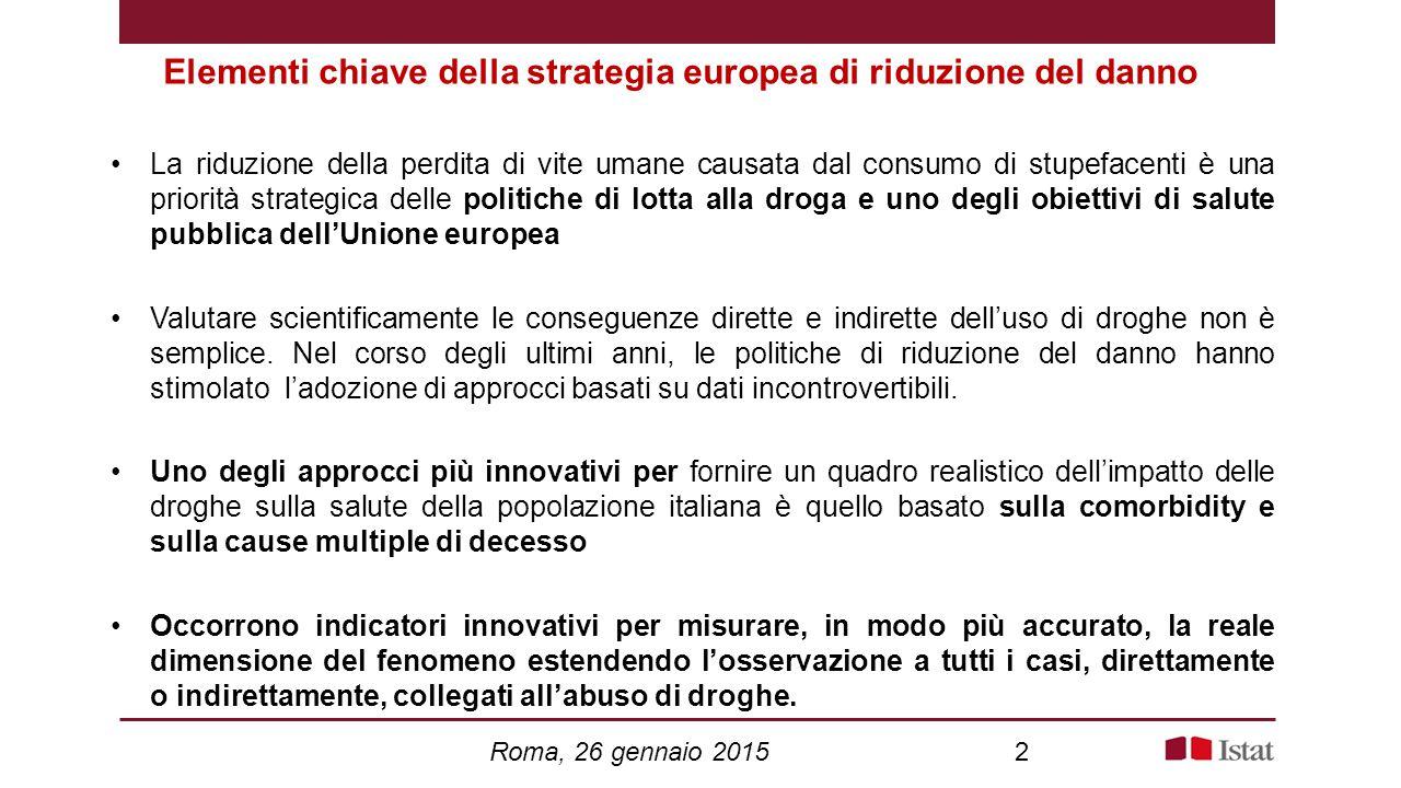 Elementi chiave della strategia europea di riduzione del danno