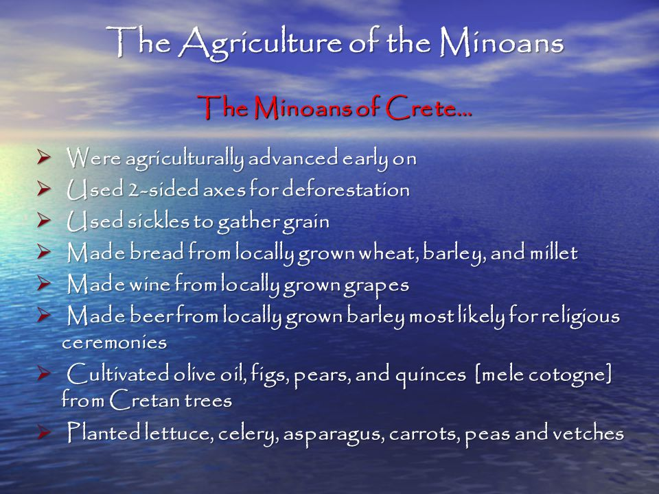 The Agriculture of the Minoans