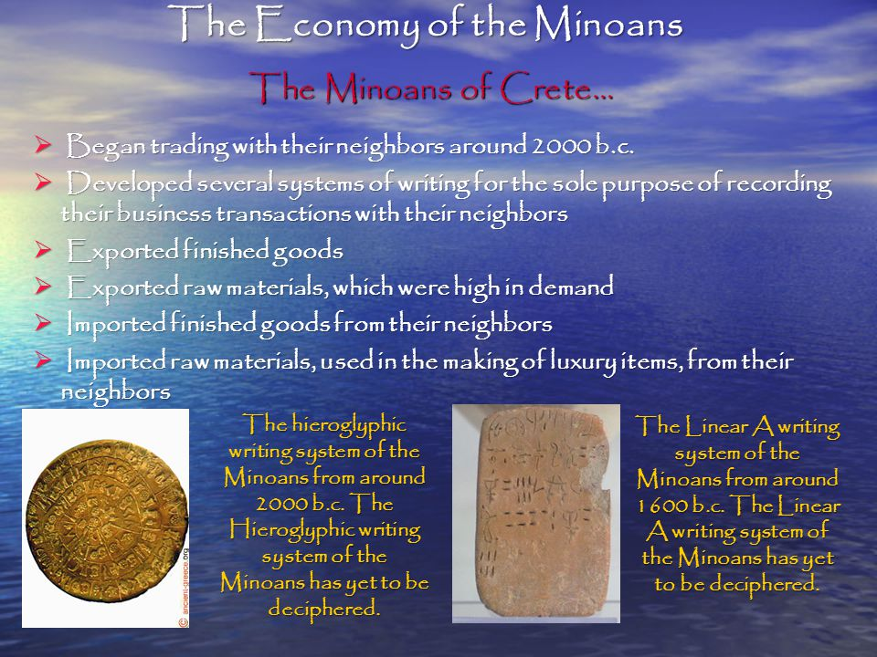 The Economy of the Minoans
