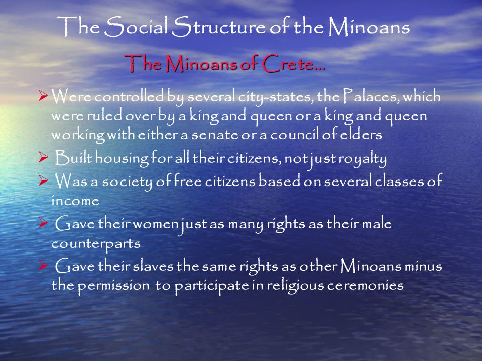 The Social Structure of the Minoans
