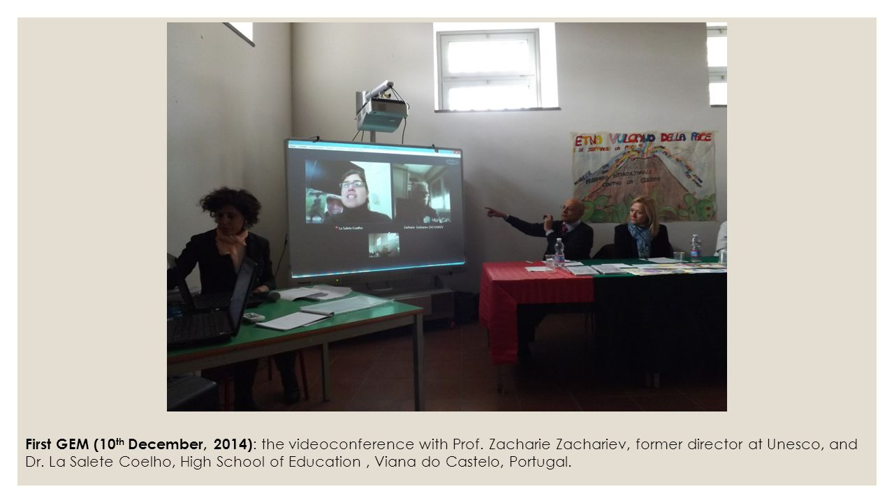 First GEM (10th December, 2014): the videoconference with Prof