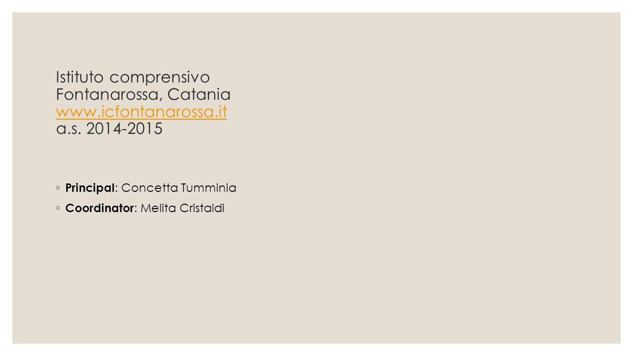 Istituto comprensivo Fontanarossa, Catania www.icfontanarossa.it a.s. 2014-2015