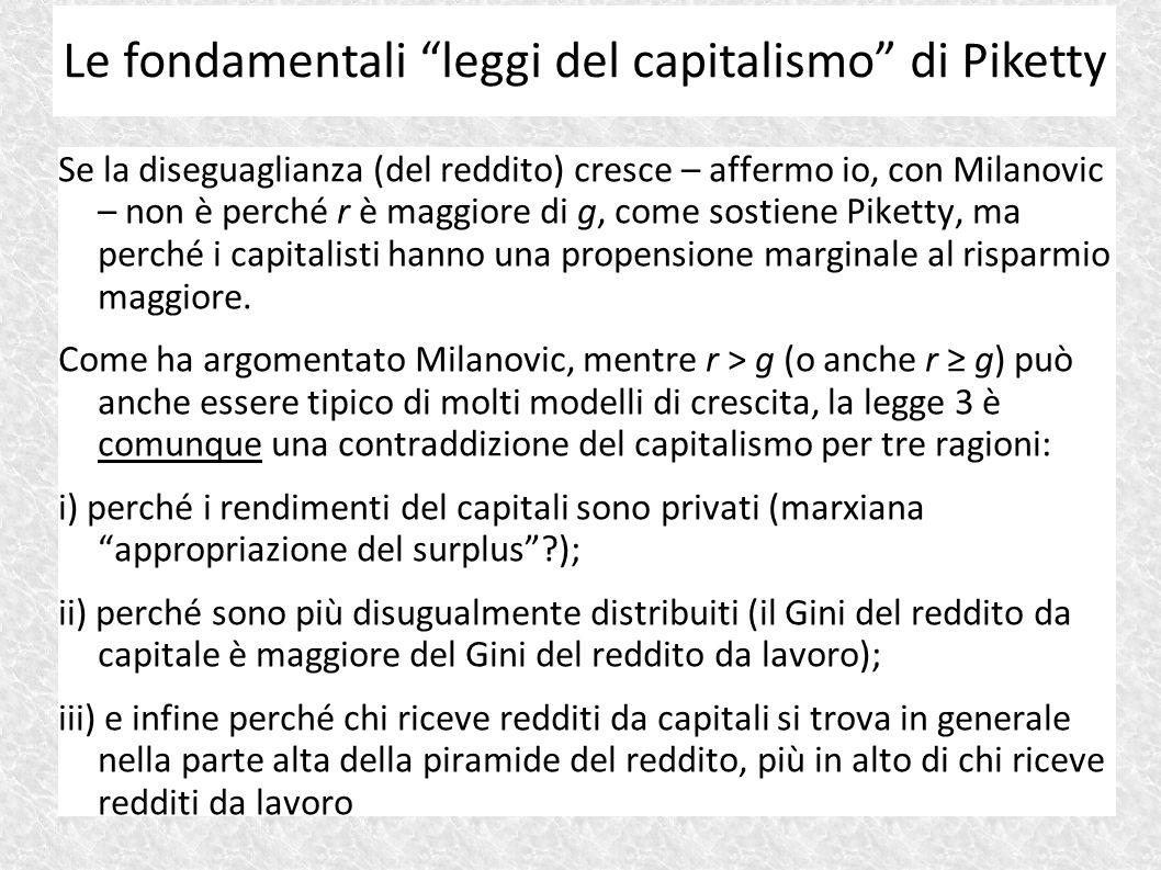 Le fondamentali leggi del capitalismo di Piketty