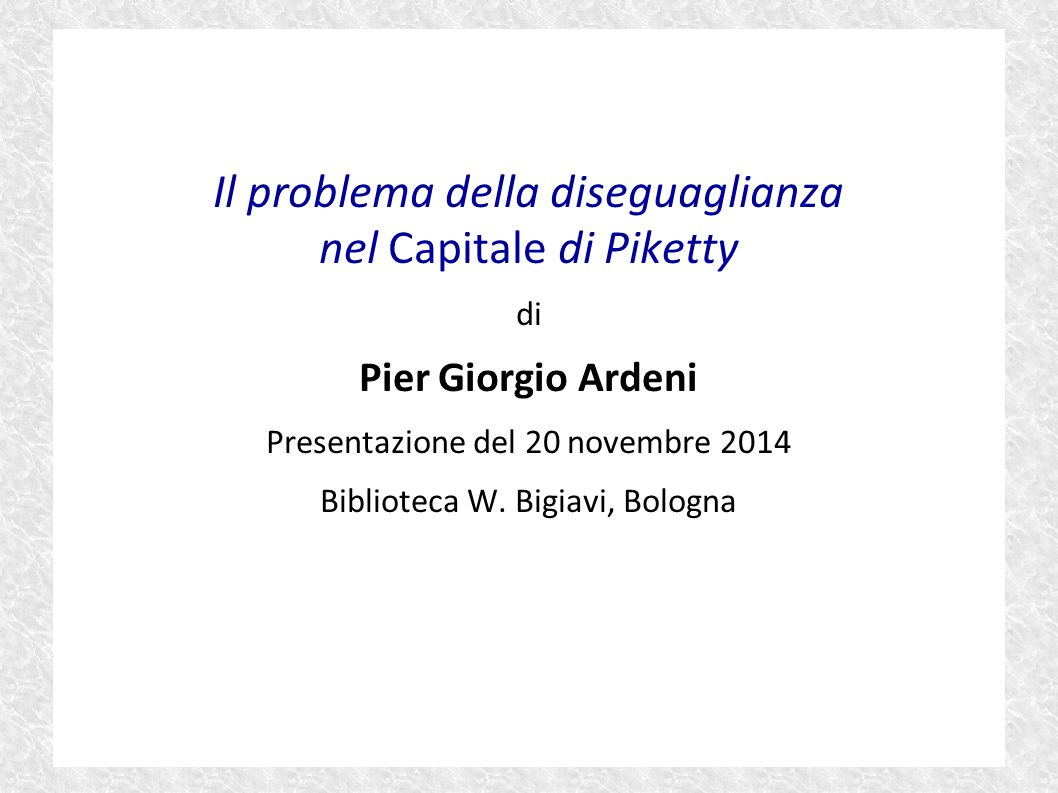 Il problema della diseguaglianza nel Capitale di Piketty