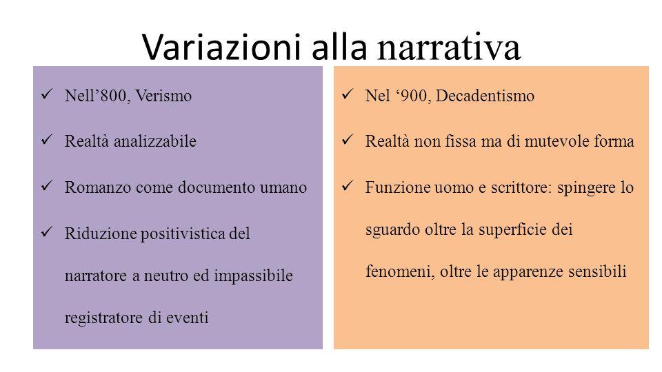 Variazioni alla narrativa