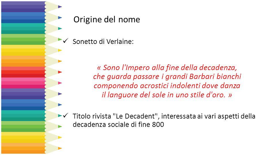 Origine del nome Sonetto di Verlaine: