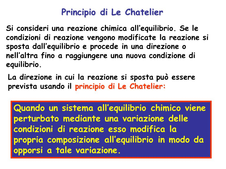 Principio di Le Chatelier