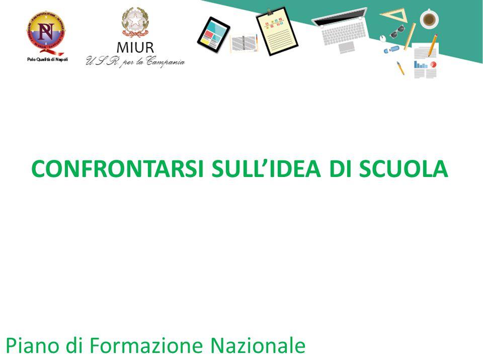 CONFRONTARSI SULL'IDEA DI SCUOLA