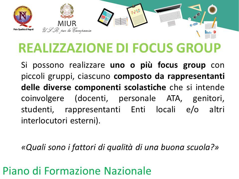 REALIZZAZIONE DI FOCUS GROUP
