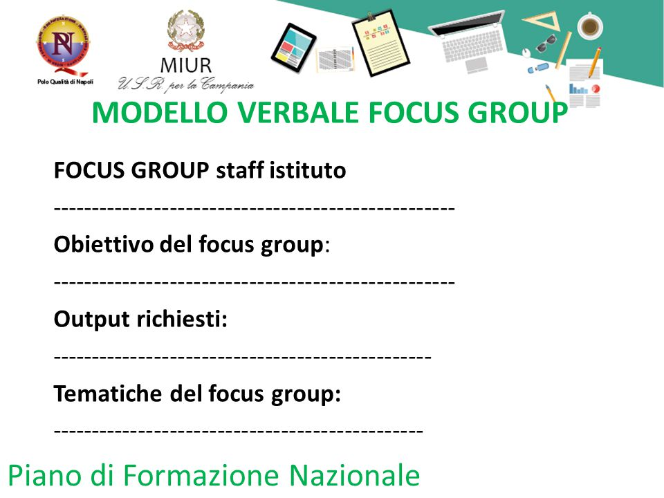 MODELLO VERBALE FOCUS GROUP