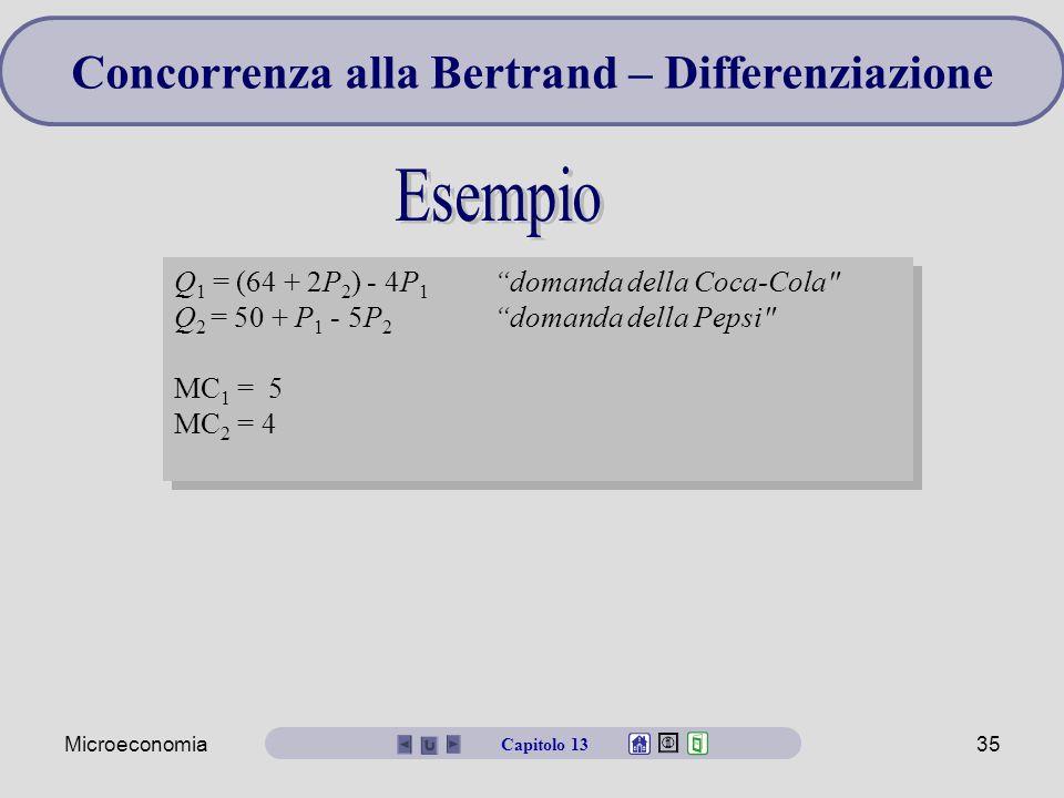 Concorrenza alla Bertrand – Differenziazione