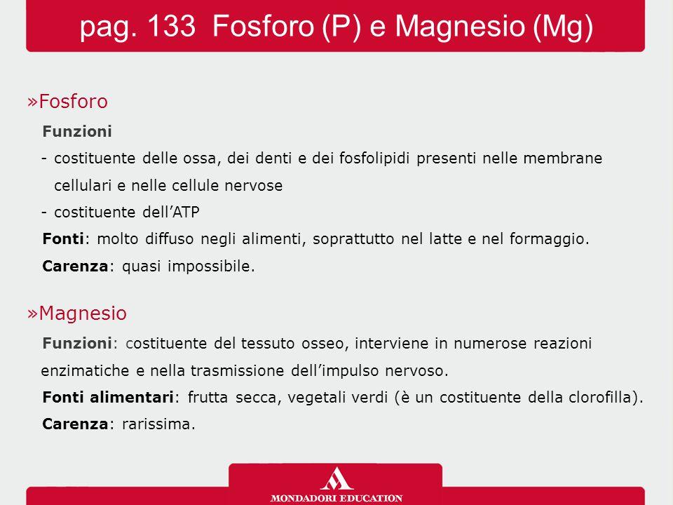 pag. 133 Fosforo (P) e Magnesio (Mg)