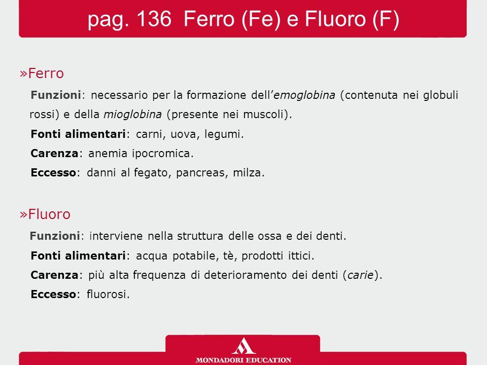 pag. 136 Ferro (Fe) e Fluoro (F)