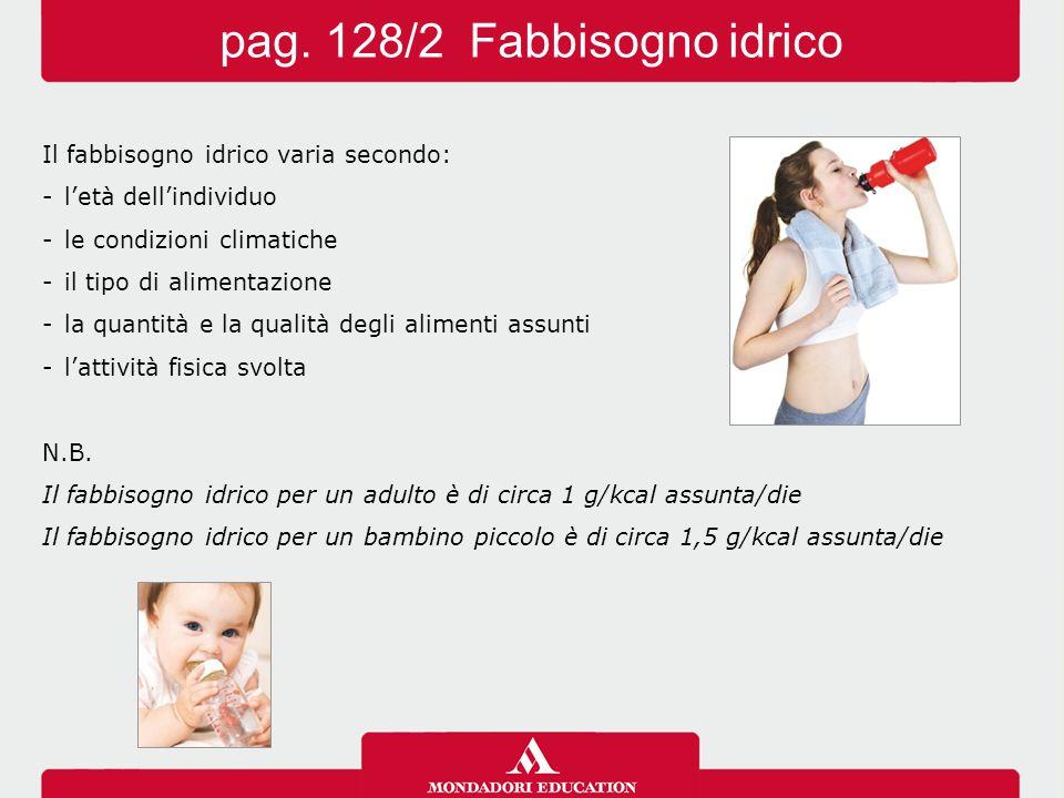 pag. 128/2 Fabbisogno idrico