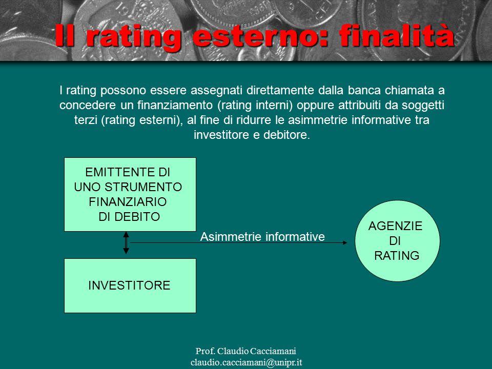 Il rating esterno: finalità
