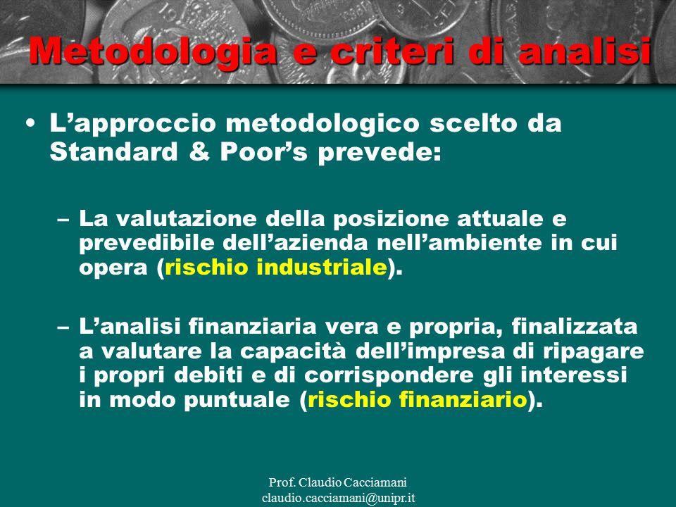 Metodologia e criteri di analisi