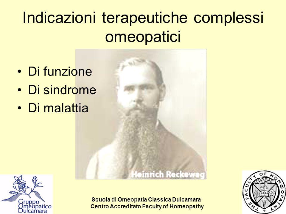 Indicazioni terapeutiche complessi omeopatici