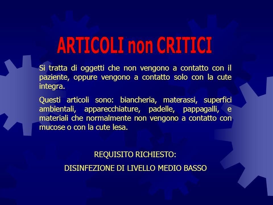 DISINFEZIONE DI LIVELLO MEDIO BASSO