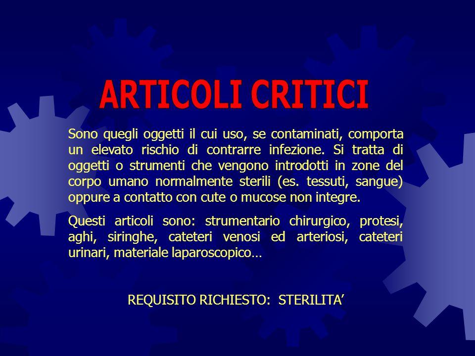 REQUISITO RICHIESTO: STERILITA'