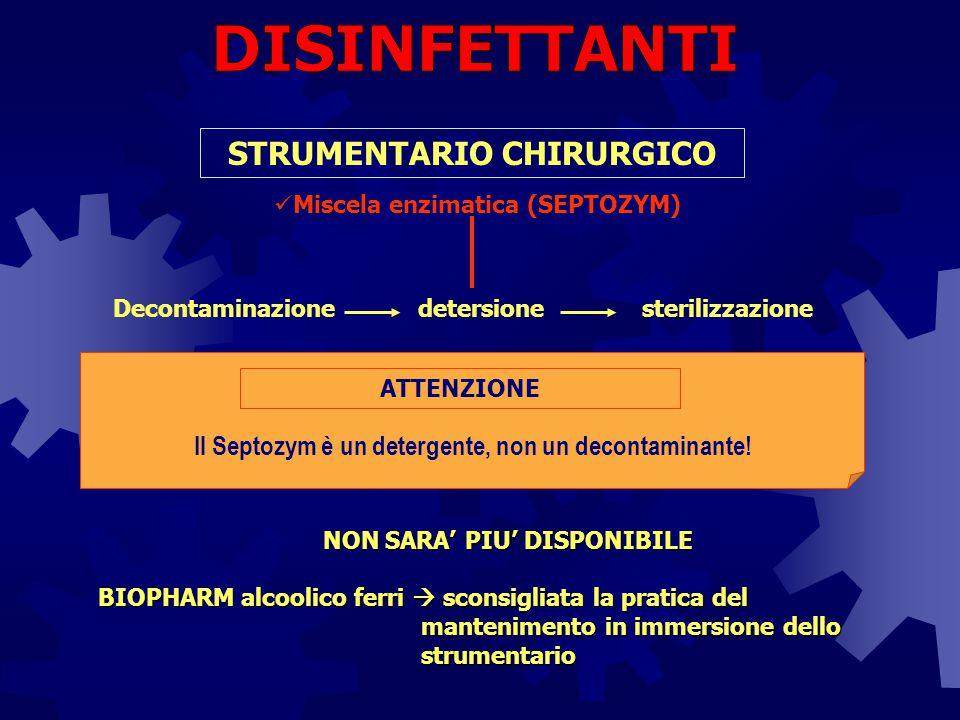 STRUMENTARIO CHIRURGICO NON SARA' PIU' DISPONIBILE