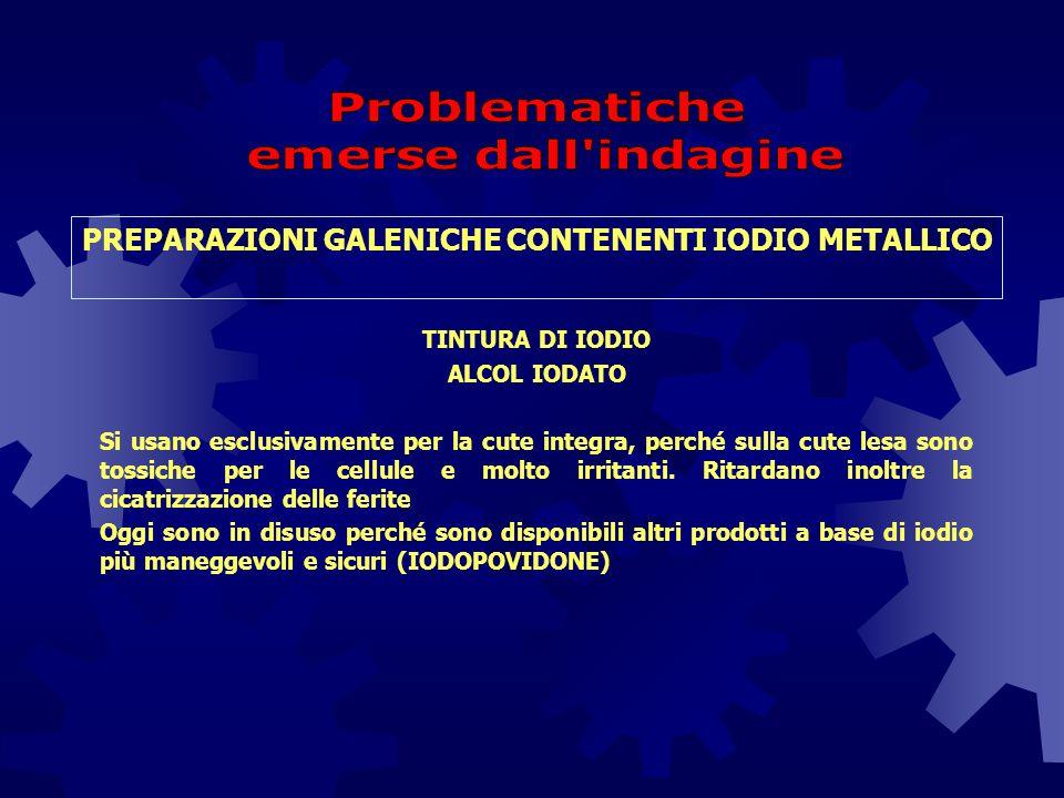 PREPARAZIONI GALENICHE CONTENENTI IODIO METALLICO