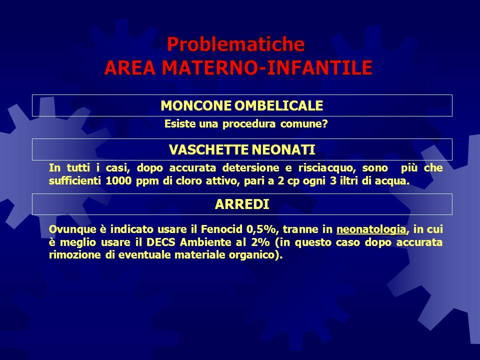 AREA MATERNO-INFANTILE Esiste una procedura comune