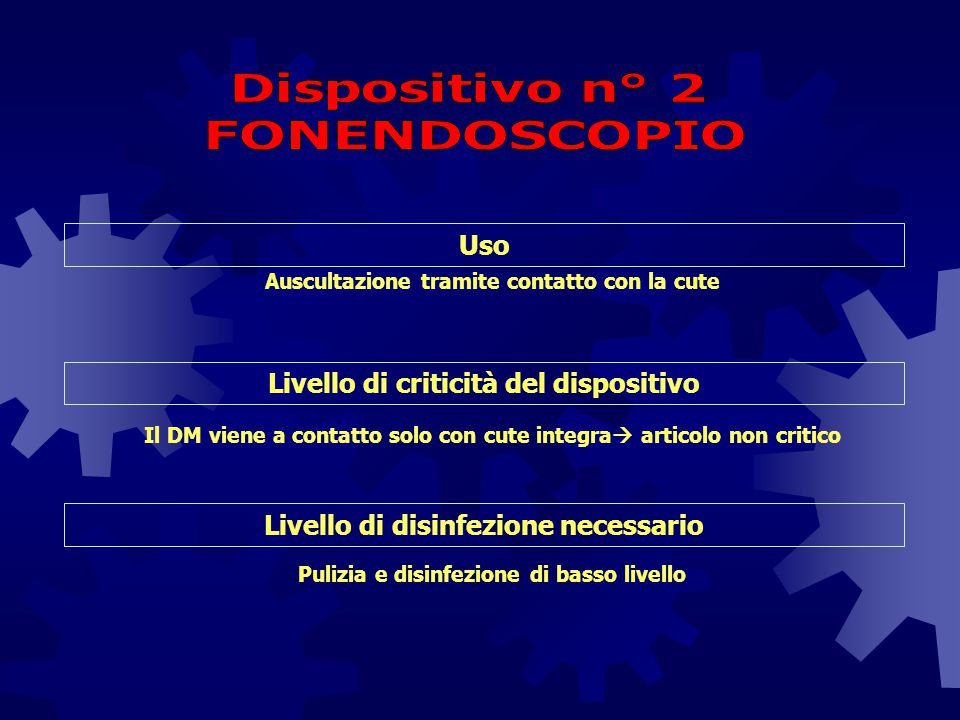 Dispositivo n° 2 FONENDOSCOPIO