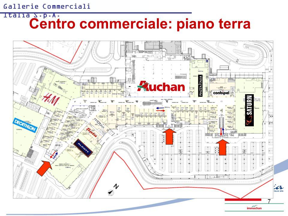 Centro commerciale: piano terra
