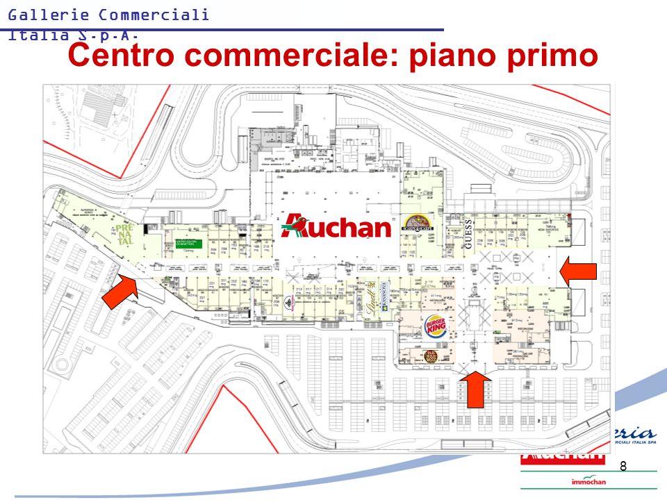 Centro commerciale: piano primo
