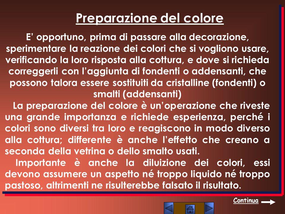 Preparazione del colore