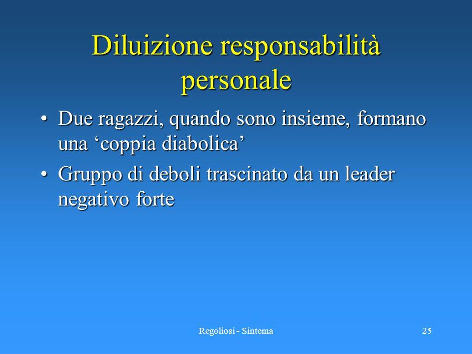 Diluizione responsabilità personale