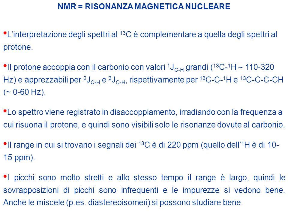 NMR = RISONANZA MAGNETICA NUCLEARE