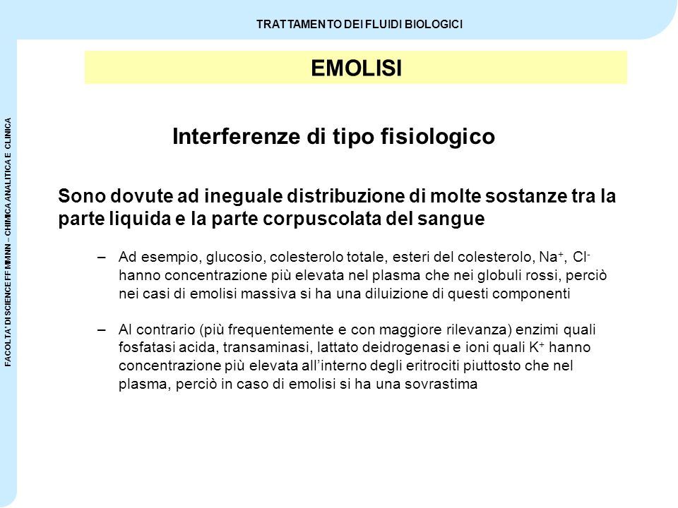 Interferenze di tipo fisiologico