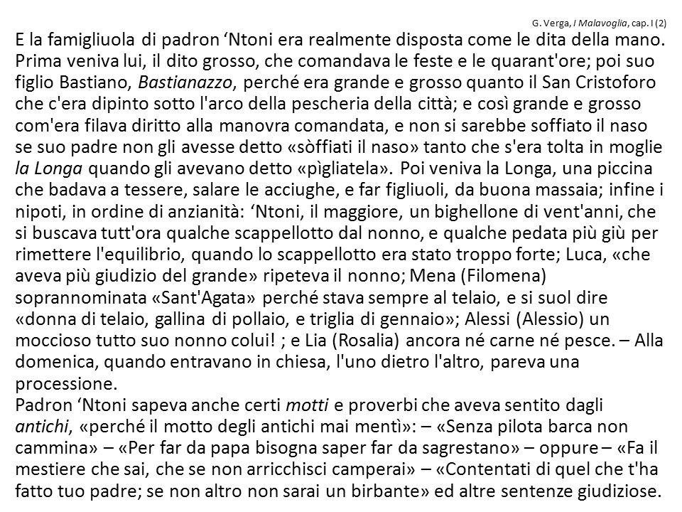 G. Verga, I Malavoglia, cap. I (2)