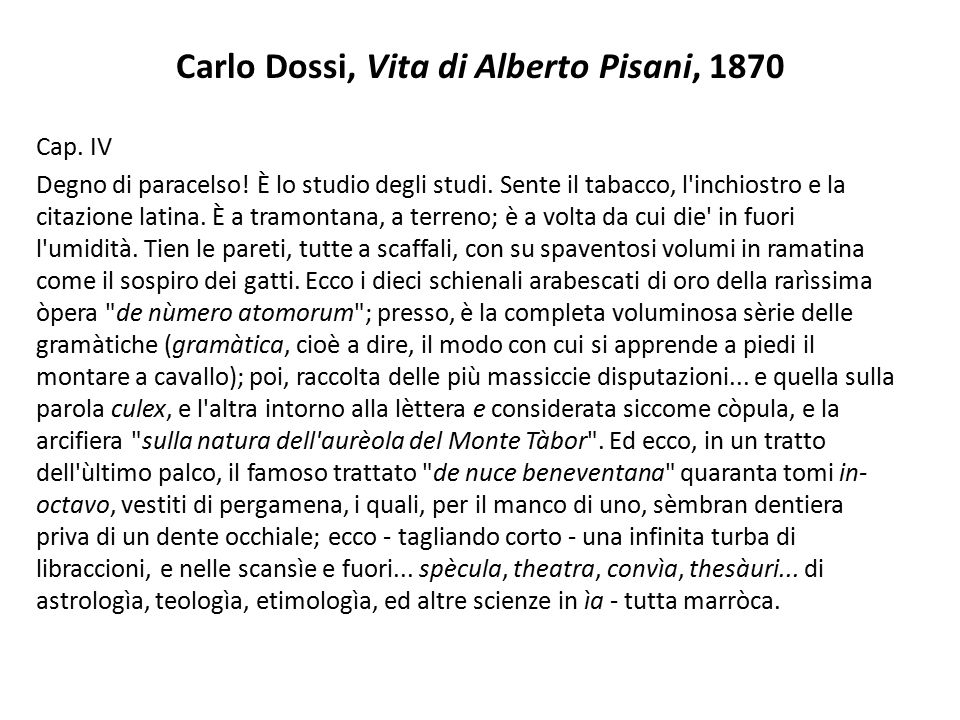 Carlo Dossi, Vita di Alberto Pisani, 1870