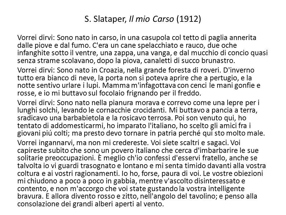 S. Slataper, Il mio Carso (1912)