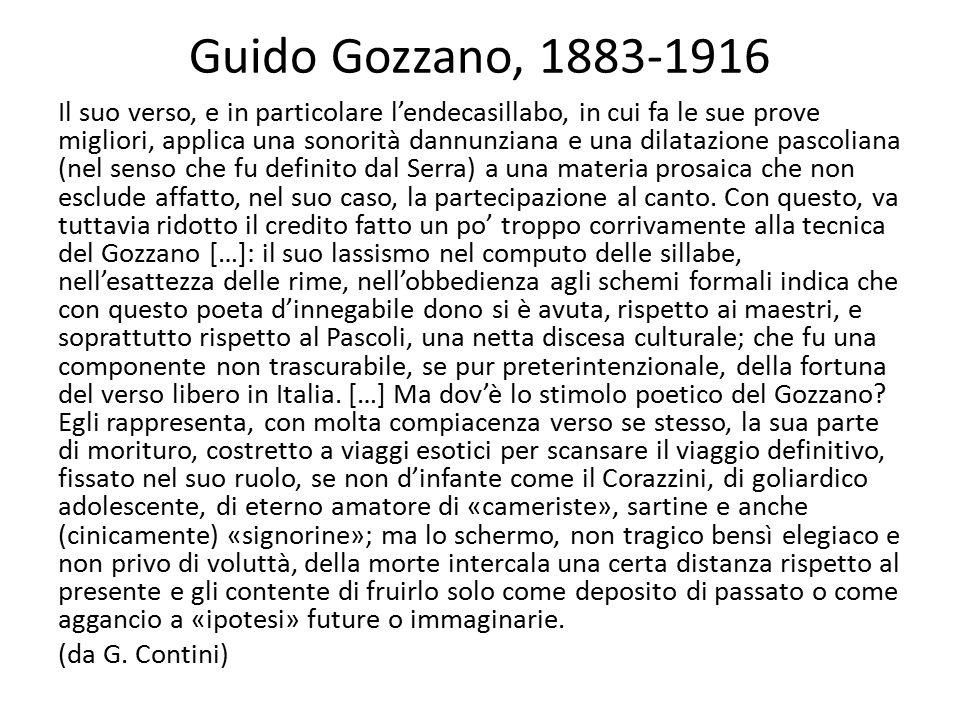 Guido Gozzano, 1883-1916