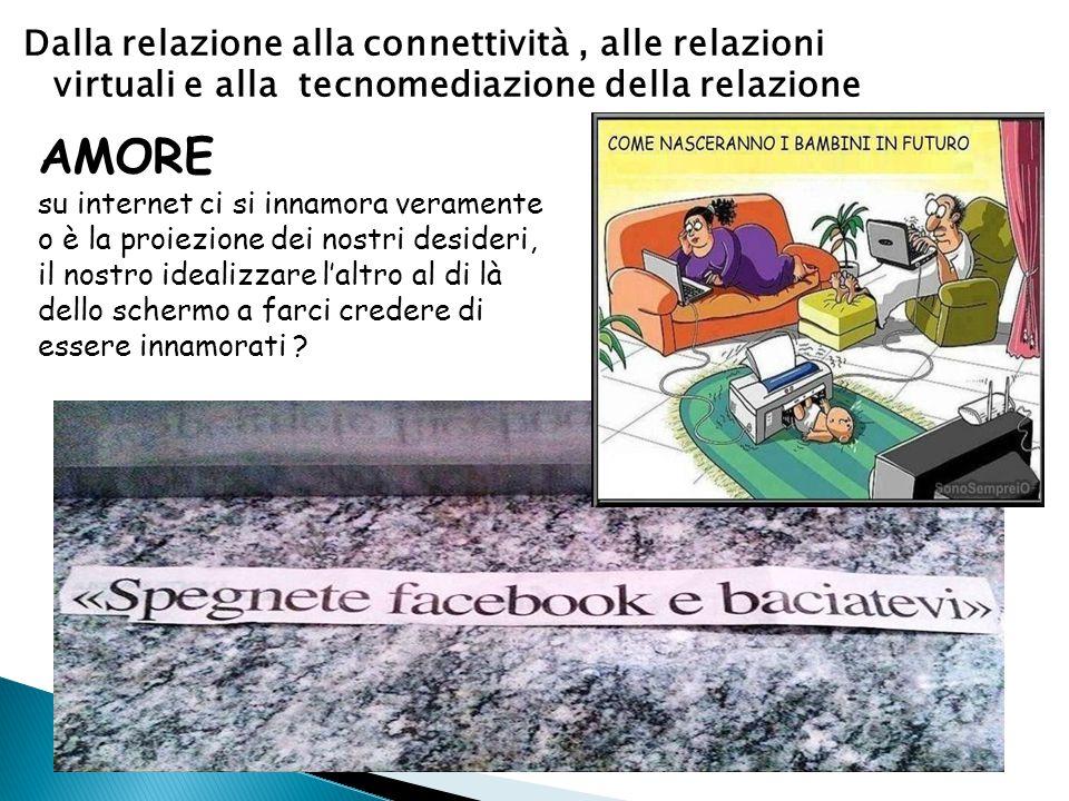 Dalla relazione alla connettività , alle relazioni virtuali e alla tecnomediazione della relazione