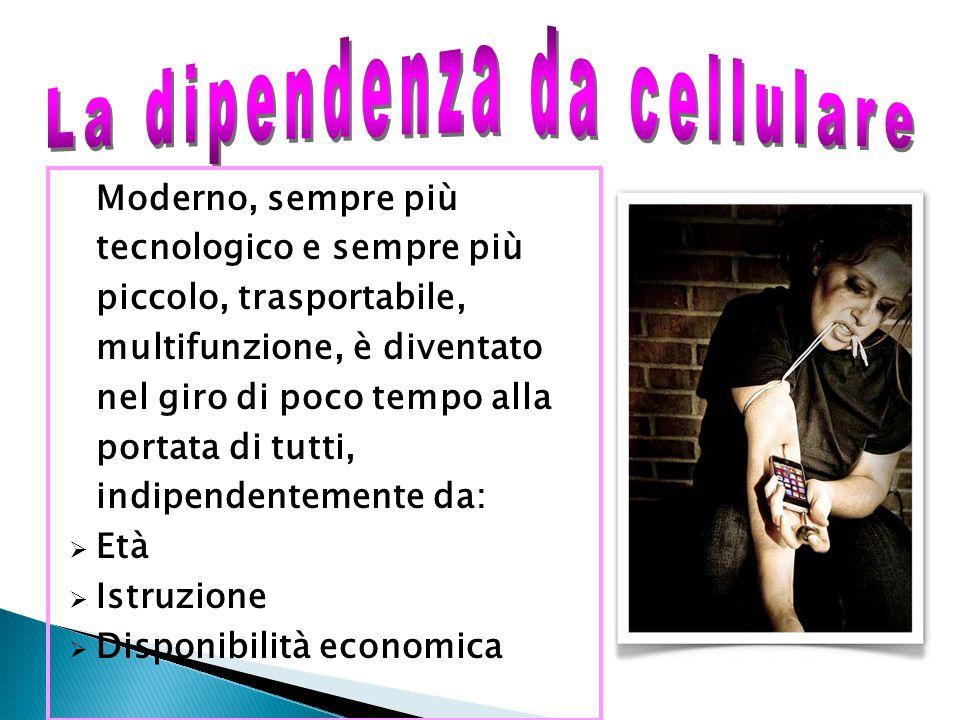La dipendenza da cellulare