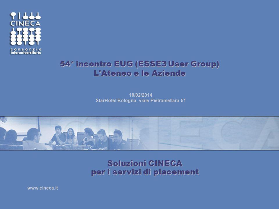 54° incontro EUG (ESSE3 User Group) L Ateneo e le Aziende