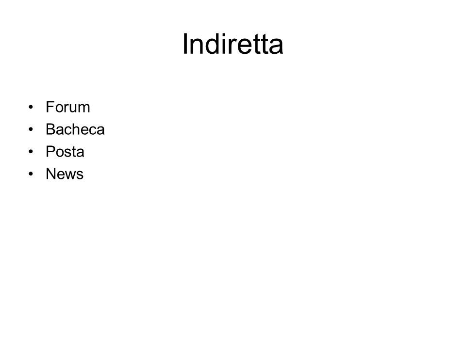 Indiretta Forum Bacheca Posta News