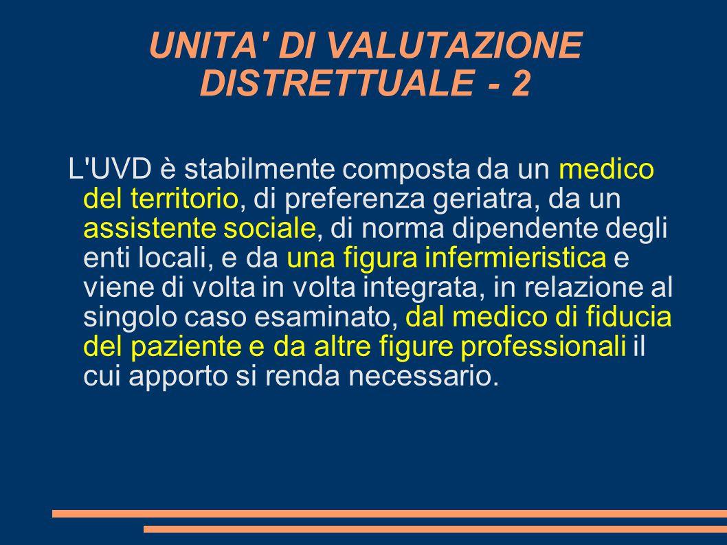UNITA DI VALUTAZIONE DISTRETTUALE - 2