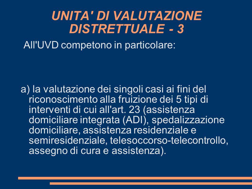 UNITA DI VALUTAZIONE DISTRETTUALE - 3