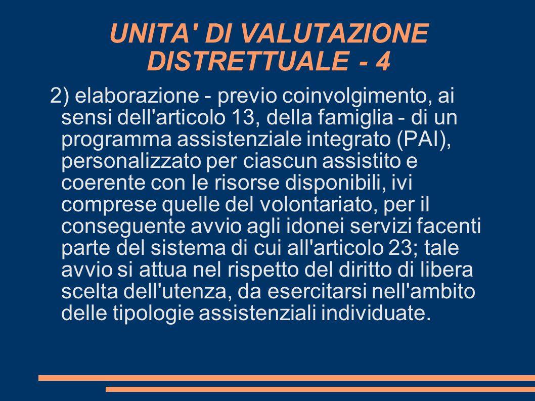 UNITA DI VALUTAZIONE DISTRETTUALE - 4