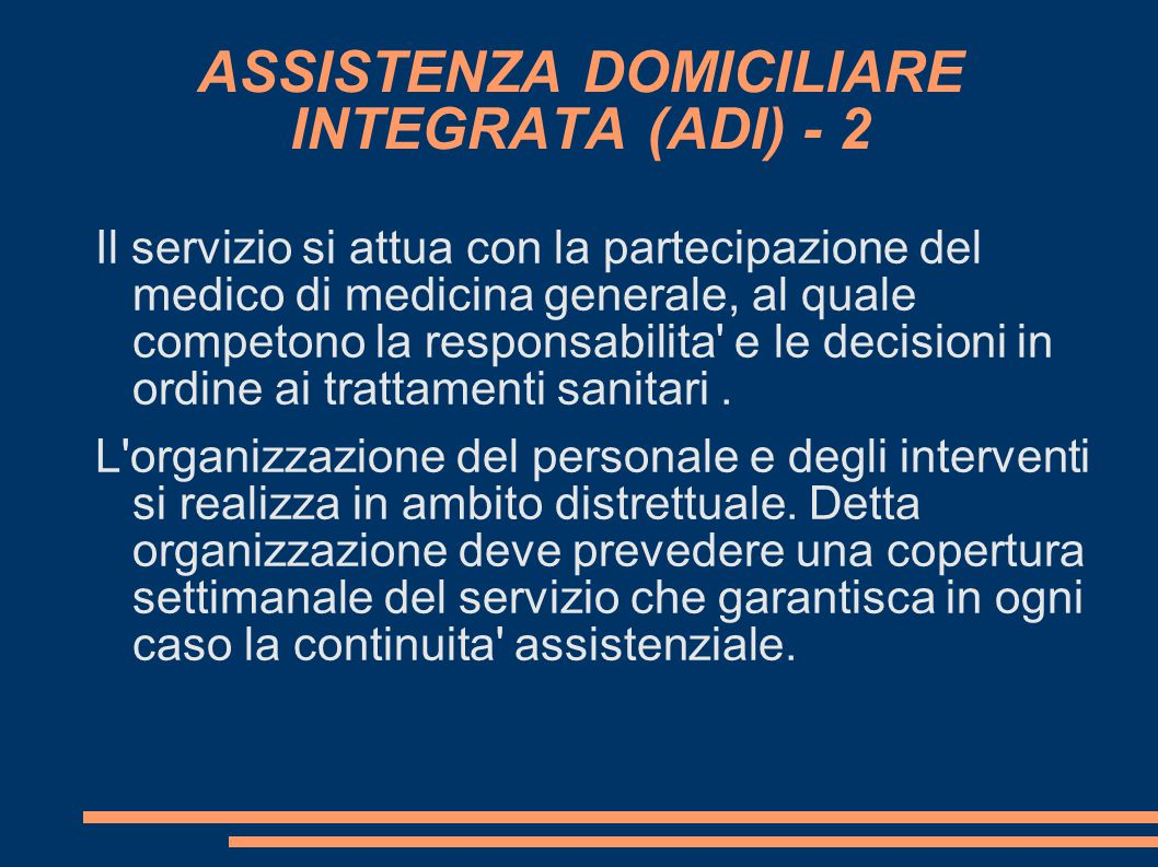 ASSISTENZA DOMICILIARE INTEGRATA (ADI) - 2