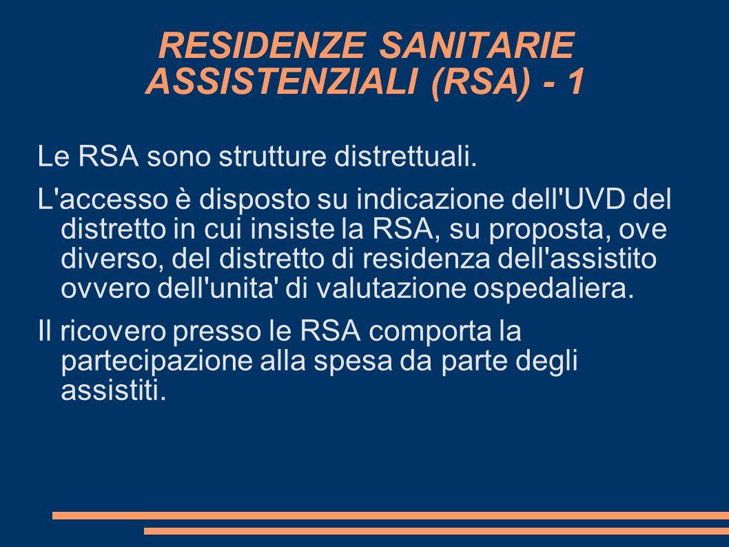 RESIDENZE SANITARIE ASSISTENZIALI (RSA) - 1
