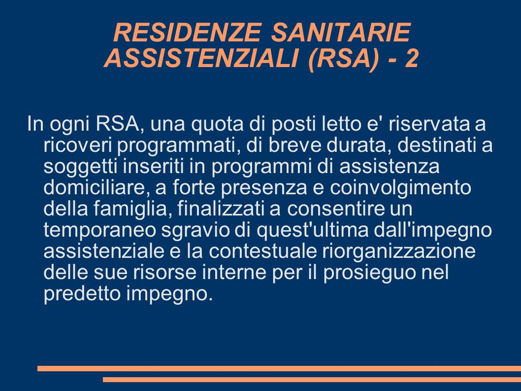 RESIDENZE SANITARIE ASSISTENZIALI (RSA) - 2