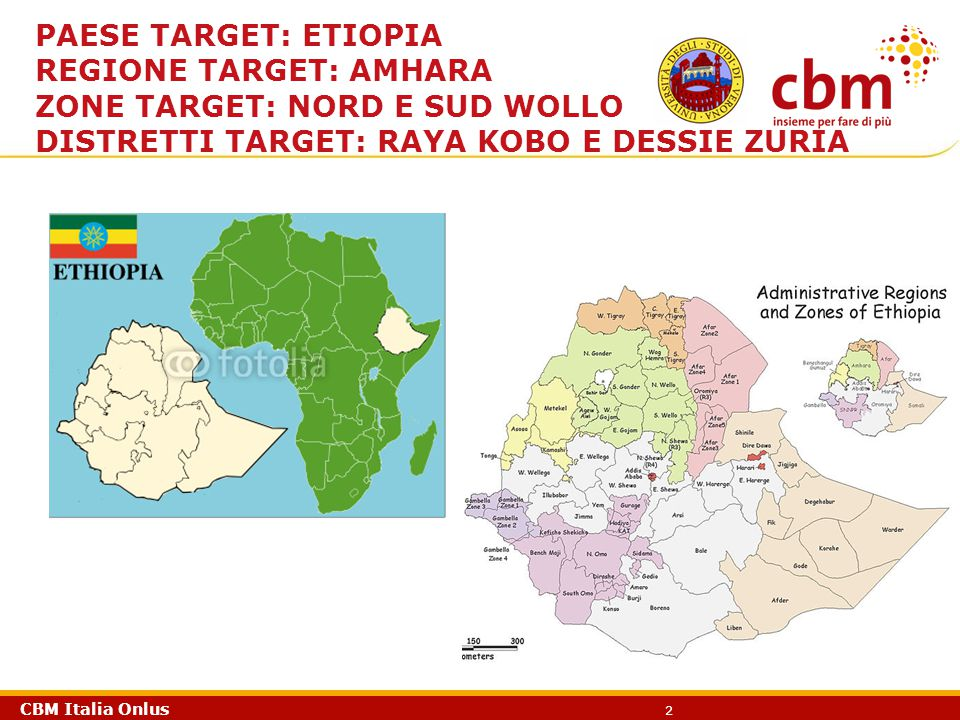 Paese target: Etiopia Regione target: Amhara. Zone target: Nord e sud wollo.